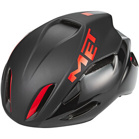 MET Manta Fietshelm, black/red